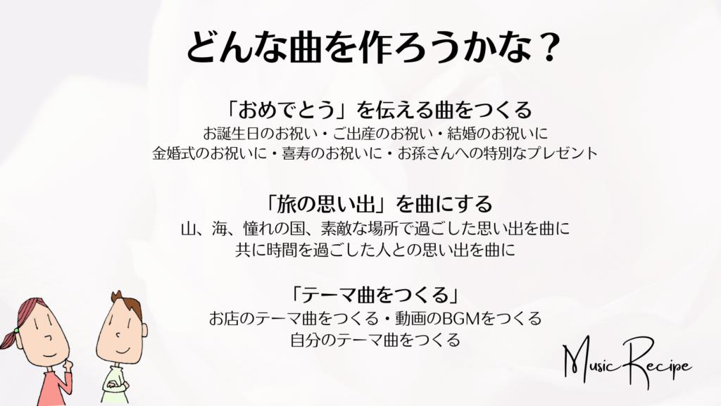 ミュージックレシピ /作曲ごっこ